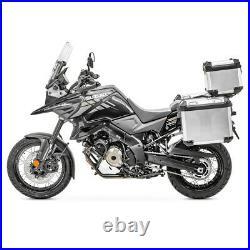 Valises alu + topcase pour Honda Africa Twin XRV 750 / 650 GX38-45 argent